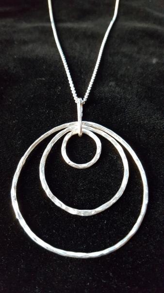Simple Sterling Silver 3 loop Pendant