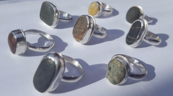 I can make to order Pebble Rings....you choose your pebble and I will set into Sterling Silver! Here's a range of my Polzeath Pebble Rings