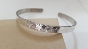 Hammered Sterling Silver Torque Bangle, adjustable, Hallmarked £32.00