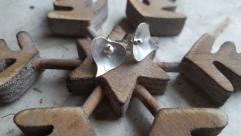 Small Silver leaf studs £42.00