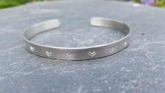 Silver Heart Adjustable Bangle £32.00