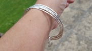 Set of Eco Silver Stacking Bangles.