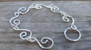 Eco Silver Wave Bracelet. £36.00