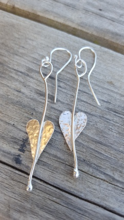 Heart drop Earrings £22.00