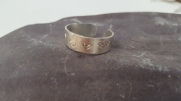 Heart stamped Silver Ring