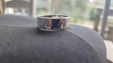Surf Wave Stamp Ring