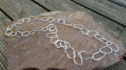 Ecosilver and EcoGold Rock Pool Necklace, 32 inches long