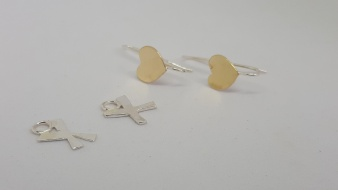 the earrings with charms removed