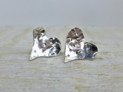 Hammered Silver Heart Studs £22.00