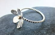 Silver Daisy EcoSilver ring With EcoGold Centre £40.00 +