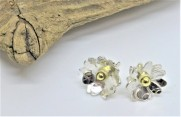 Eco-Silver and Fairtrade 18ct Gold Stud Earrings