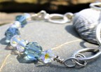 Eco-Silver and Swarovski Beads Bracelet