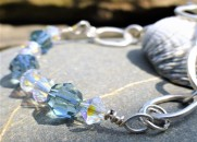 Swarvoski Crystal and organically shaped Eco Silver Bracelet. Based on this design shown. Various Designs. £35.00