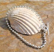 Silver Ball chain Bracelet. £25.00