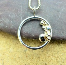 EcoSilver and EcoGold Rock Pool Pendant