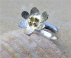 EcoSilver and 4 beads of 18ct Fairtrade Gold
