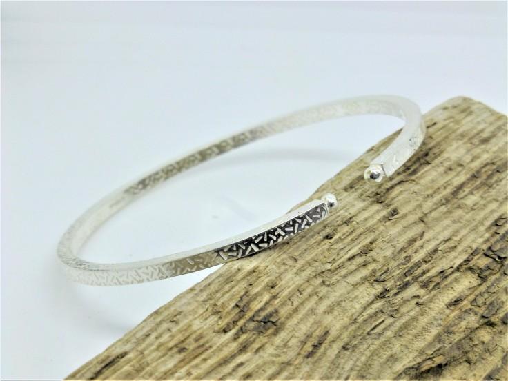 Chunky Eco-Silver Bangle